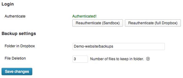 Backup naar Dropbox