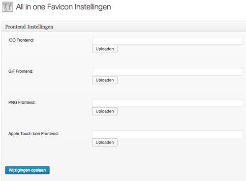 WordPress plugin all in one favicon