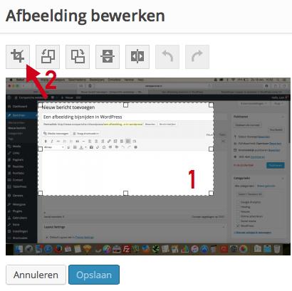 Afbeelding bijsnijden in WordPress