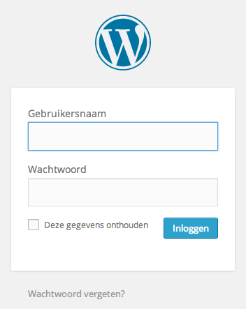 Inloggen bij WordPress