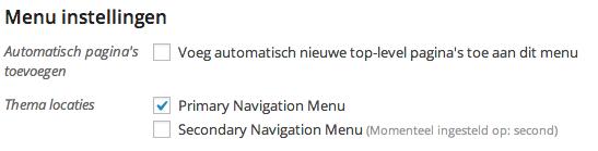Pagina's automatisch toevoegen aan het WordPress menu