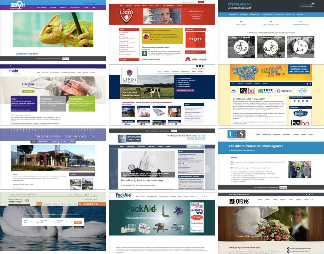 Voorbeelden websites Ofweb